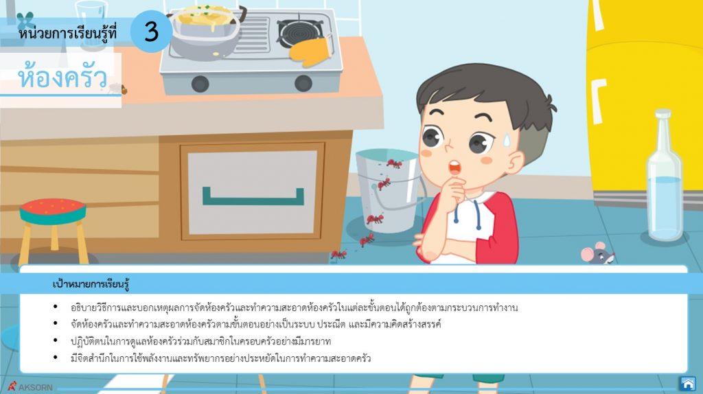 การงานอาชีพ หน่วยที่ 3 ห้องครัว