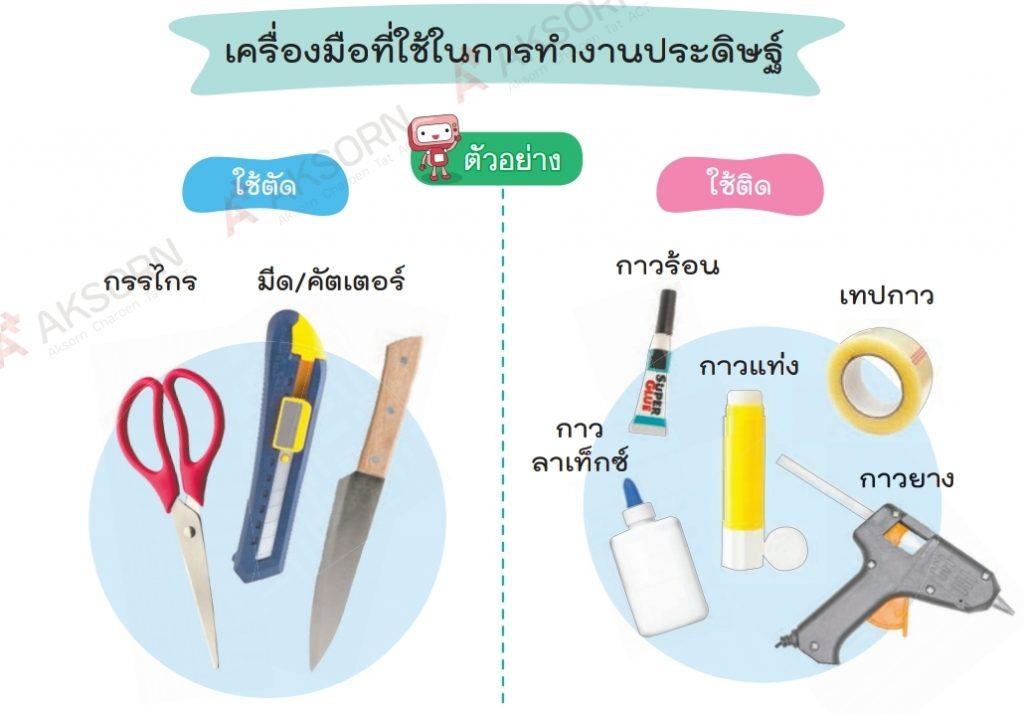 เครื่องมือที่ใช้ในงานประดิษฐ์