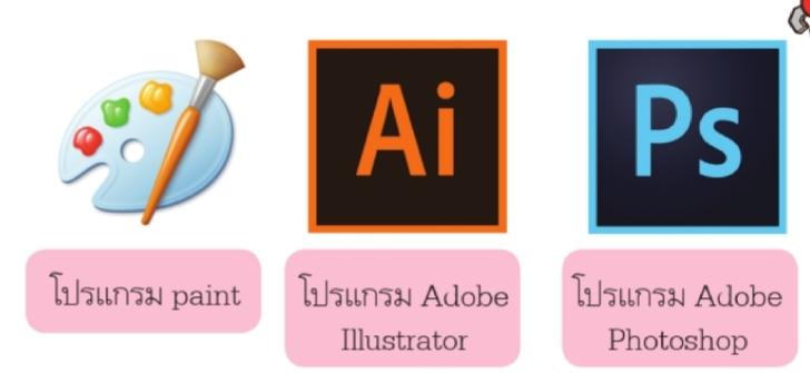 โปรแกรมที่ใช้ในการตกแต่งรูปภาพ  โปรแกรมกราฟิก