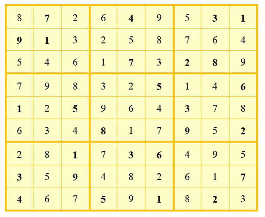 เกมซูโดะกุแบบ 9x9