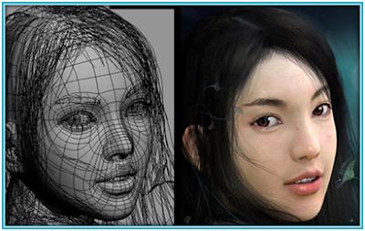 คอมพิวเตอร์กราฟิกกับงานออกแบบโครงสร้างภาพคน