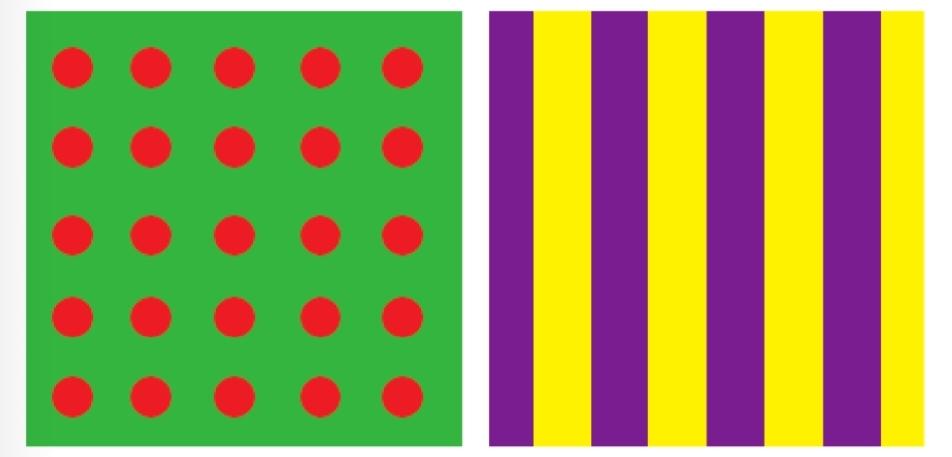 การใช้สีตรงข้ามสร้างลวดลายให้ดูโดดเด่น